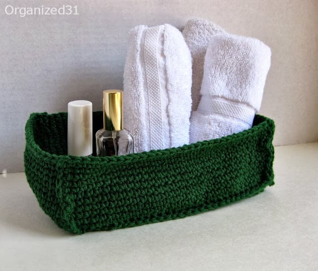Easy Crocheted  Crochet Basket - Organized 31