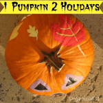 1 Pumpkin Decorated for Both Halloween and Thanksgiving