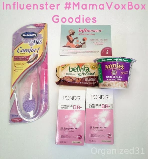 Organized 31 - Influenser #MamaVoxBox #PONDSBB #SoftBaked #Real Cheese #DrScholls #ad