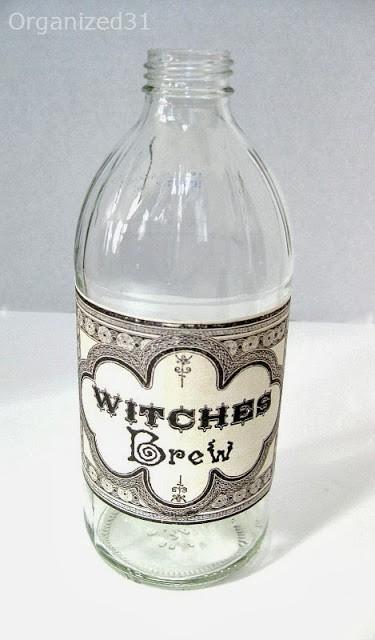 Organized 31 - Upcycled Halloween Bottle Decoration