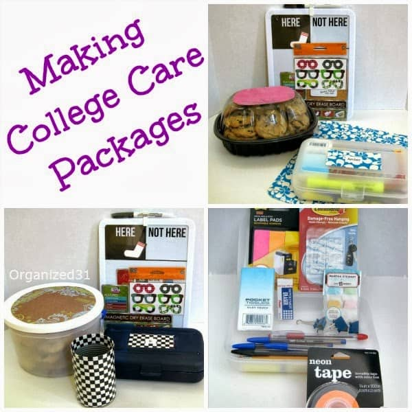 How to Make a College Care Package - Organized 31