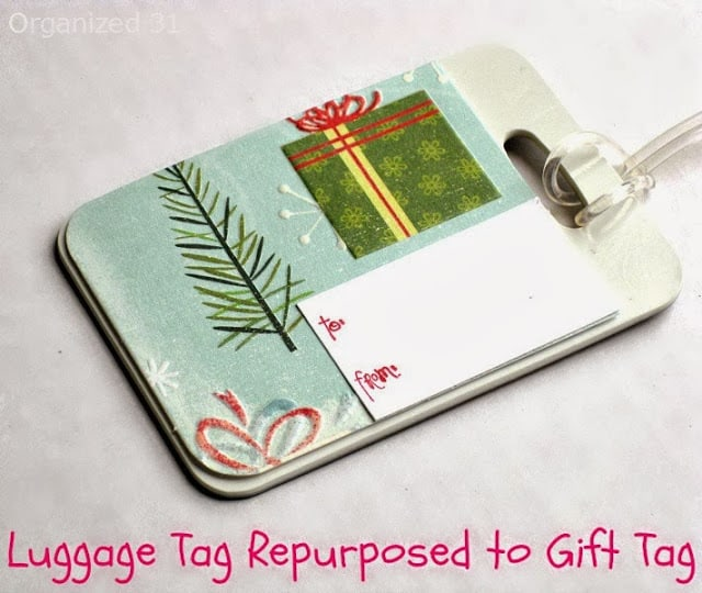 Repurposed Coaster & Luggage Tag into Upcycled Gift Tags - Organized 31