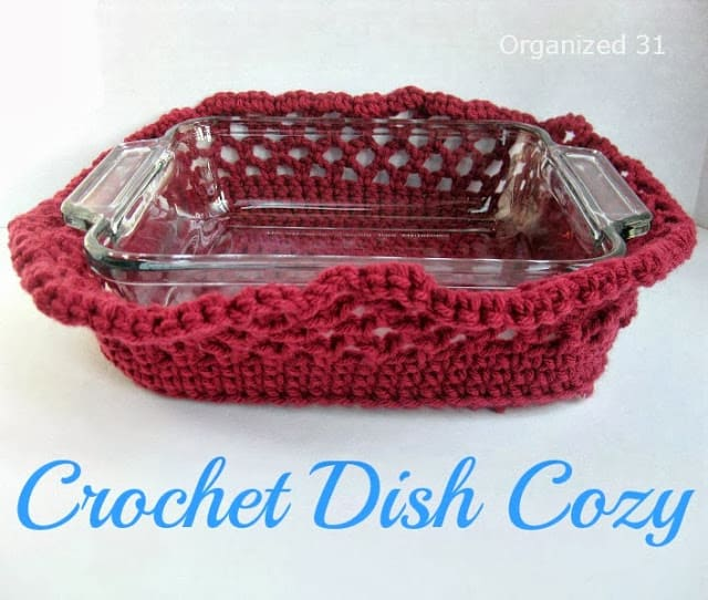 Easy Crochet Dish Cozy for Casserole Dishes - Organized 31