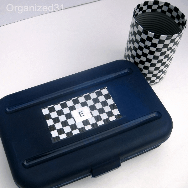 pencil box and can