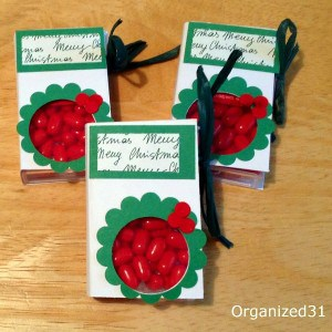 Quick & easy to make Tic Tac gift - Organized 31