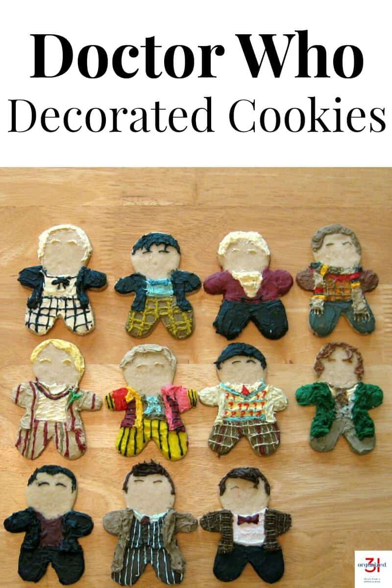 Are you a Doctor Who fan? Make these decorated Doctor Who cookies for Christmas or your next Doctor viewing party.