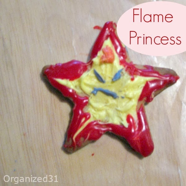#AdventureTime Flame Princess frosted and decorated cookies - Organzied 31