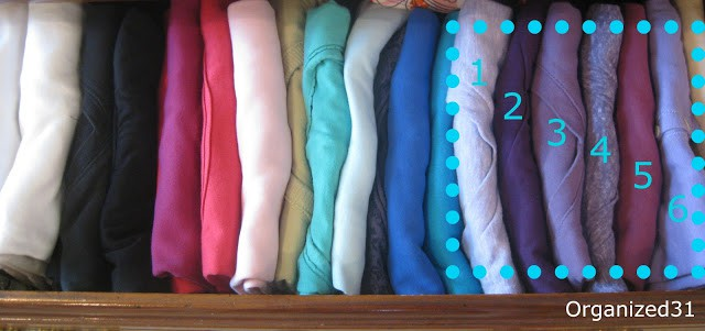 Organized 31 - Couch Potato Organize Your Tee-shirts