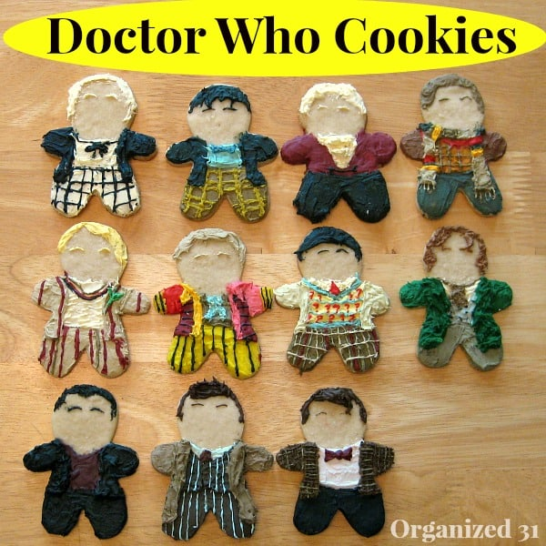 Doctor Who Cookies - All 11 Doctors - Organized 31
