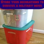How to Store Your Decorations to Survive a Military Move
