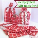 Frugal Upcycled Fabric Gift Bags