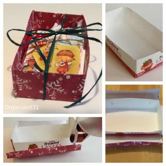Organized31 - Repurposed box for Repurposed Gift Tags