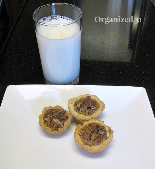 Pecan Tassies - with milk