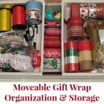Gift Wrap Organization and Storage for Moving