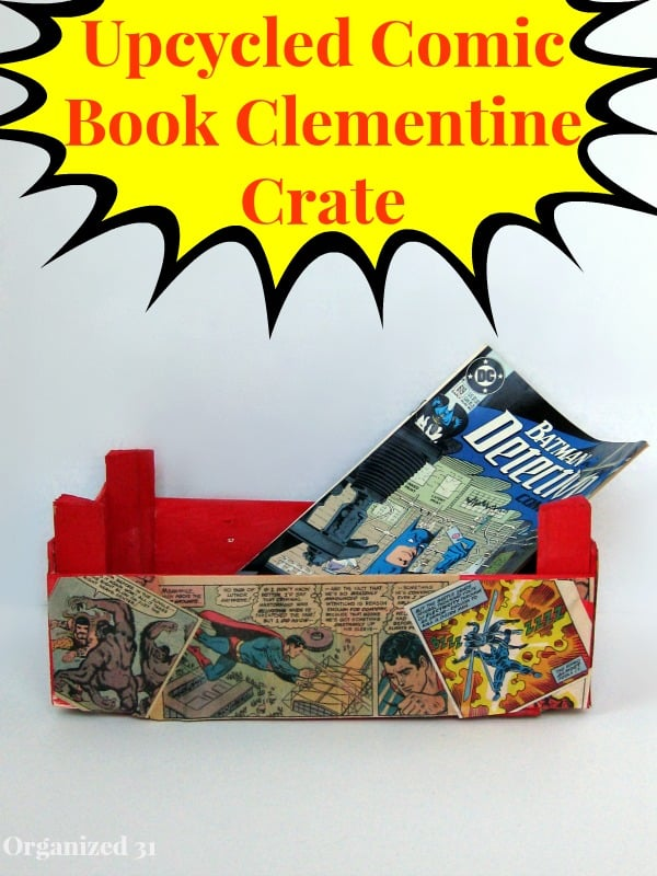 Upcycled Comic Book Clementine Crate - Organized 31