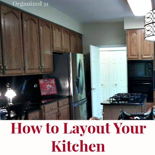 dark kitchen with title text reading How to Layout Your Kitchen
