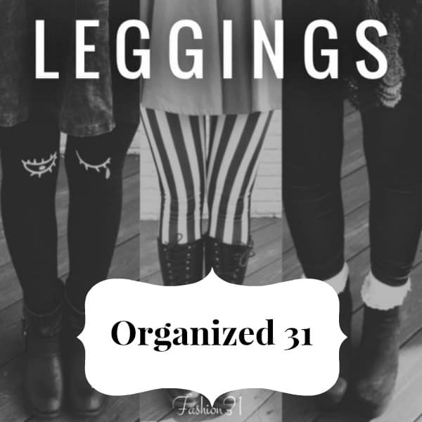 3 black and white photos of different leggings on women
