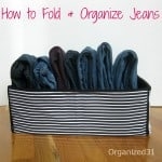 Organized 31 - How to Fold Jeans
