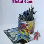 Upcycled Comics Can - Organized 31