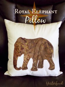 Royal Elephant Pillow by Yesterfood 5