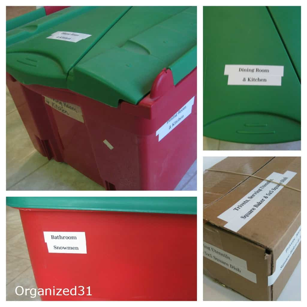 Label Decoration BIns - Organized 31