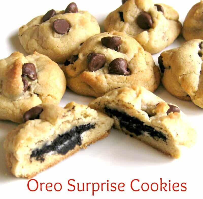 Make these delicious chocolate chip Oreo Cookie surprise treats that are always a big hit.
