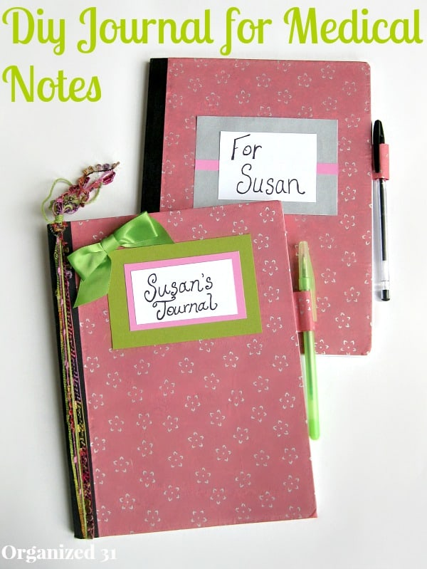 DIY Journal for Your Medical Treatment Notes - Organized 31