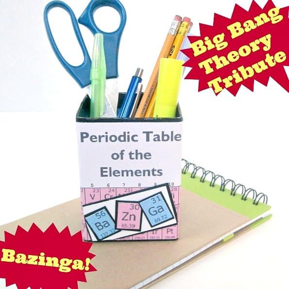 Big Bang Theory Bazinga! Pencil Cup - Organized 31
