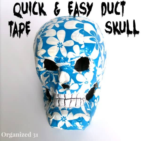 Easy Duct Tape Halloween Skull Decoration