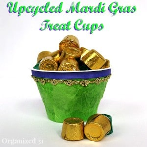 Eaasy Mardi Gras Treat Cups - Organized 31