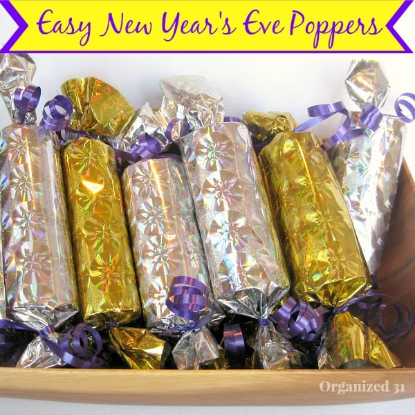 Easy New Year's Eve Poppers - Organized 31