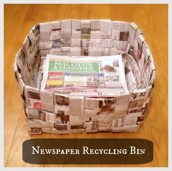 Newspaper Basket - Wondermom Wannabe