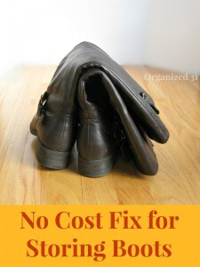 No Cost Fix for Storing Boots