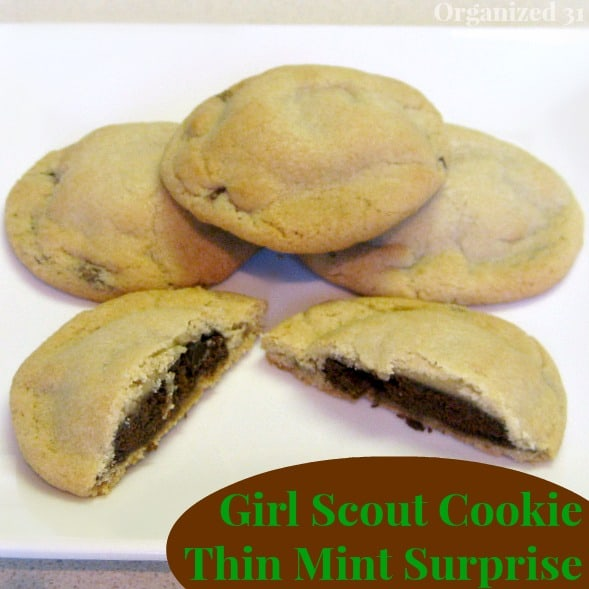 Girl Scout Thin Mint Surprise Cookies - Organized 31