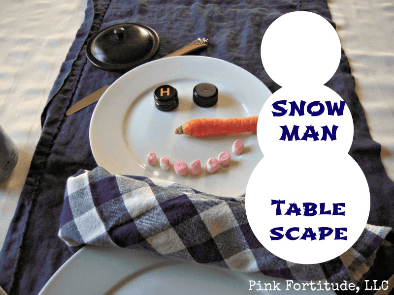 Snowman Place Setting - Coconut Head's Survival Guide