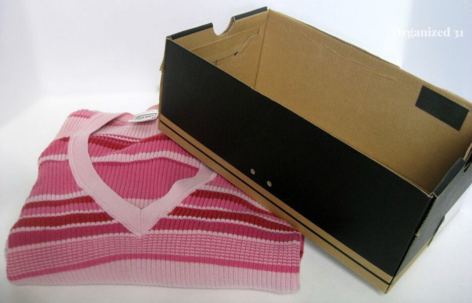 asy Upcycled Sweater Box from Organized 31