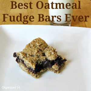 Best Oatmeal Fudge Bars Ever - Organized 31