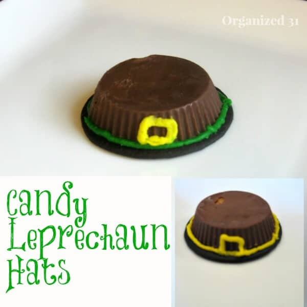 Make these St. Patrick's Day Leprechaun Hats from candy in just minutes.