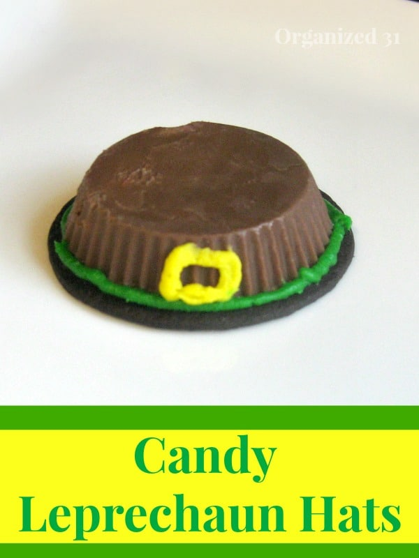Make these cute candy Leprechaun Hats to celebrate St. Patrick's Day. They're easy to make and perfect for parties.