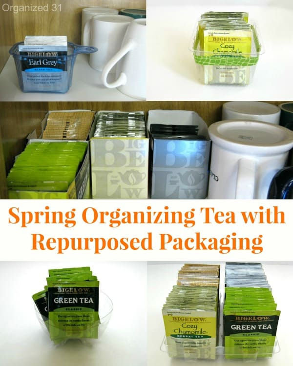Spring Organize Tea with Repurposed Packaging - Organized 31 #AmericasTea #shop