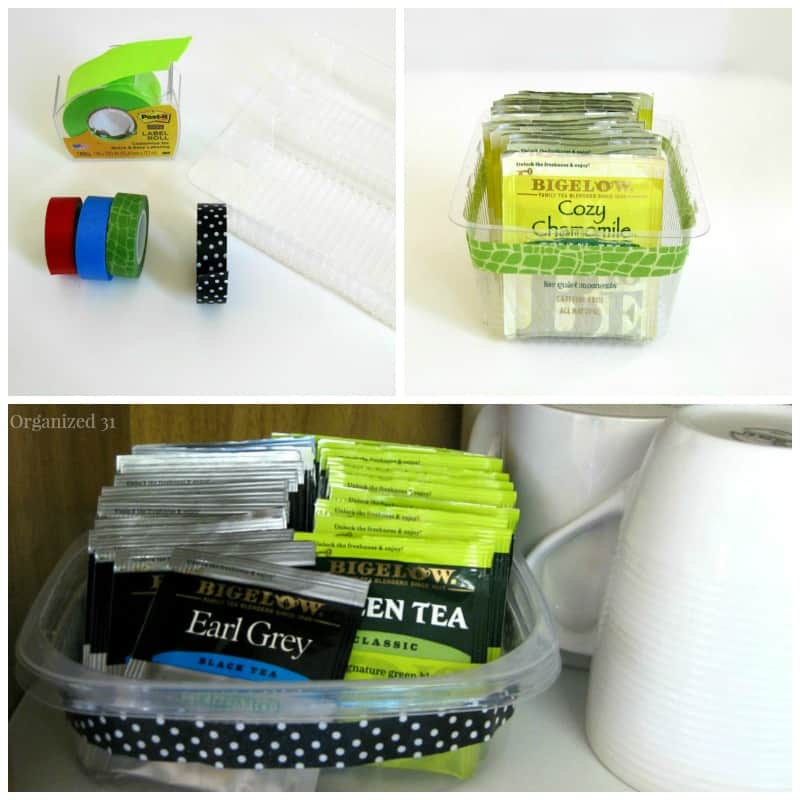 Organize Tea with Repurposed Packaging - Organiized 31