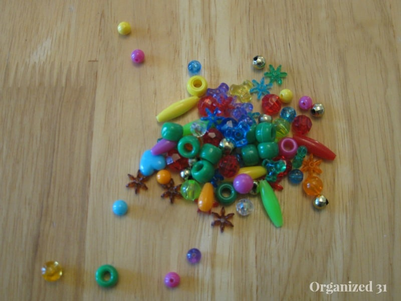 beads on a table