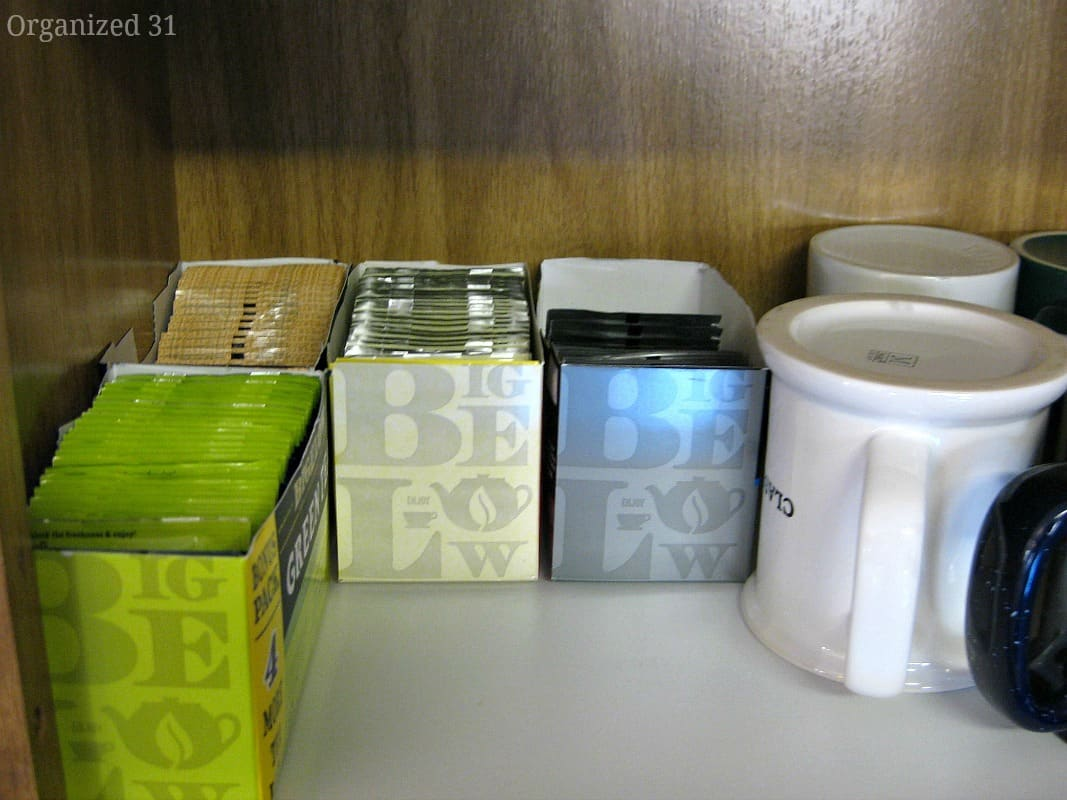 Organized Tea with Repurposed Packaging - Organized 31
