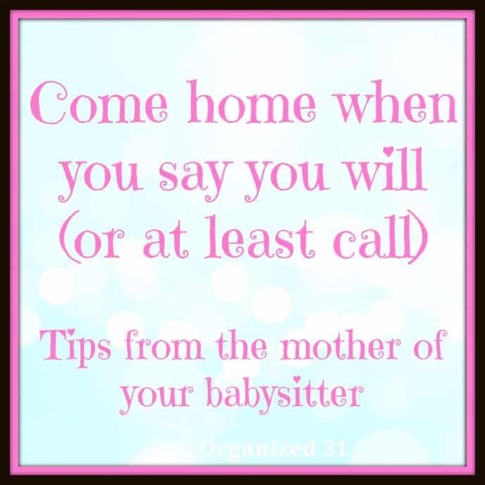 Tips on Hiring a Teen Babysitter - Organized 31