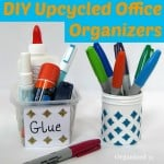 DIY Upcycled Office Organizers