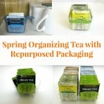 Spring Organizing Tea with Repurposed Packaging