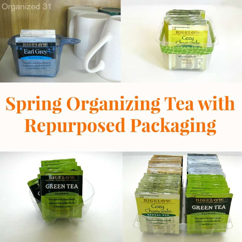 Spring Organizing Tea with Repurposed Packaging - Organiized 31