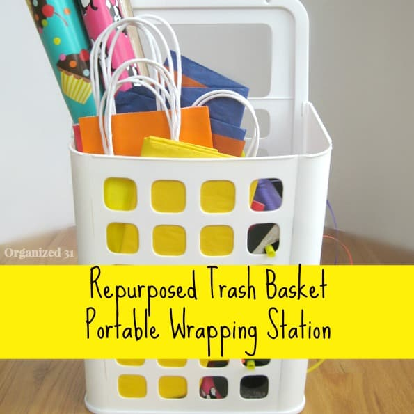 Repurposed Portable Wrapping Station - Organized 31