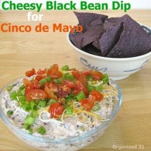 Cheesy Black Bean Dip