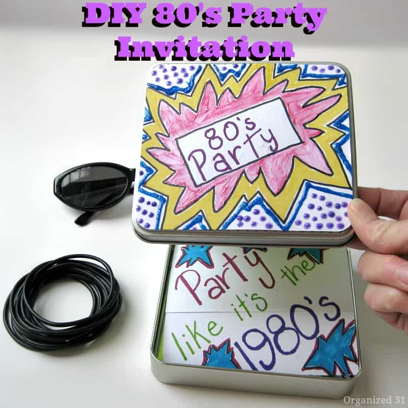 DIY 80's Party Invitation - Organized 31
